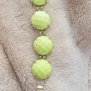 Kendra Scott yellow green bracelet
